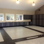 decorative concrete garage floor ottawa colour flakes
