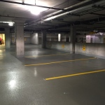 commercial parking garage polyaspartic