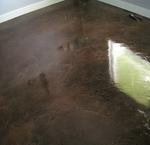 concrete overlay on subfloor