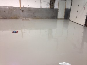self leveling concrete after