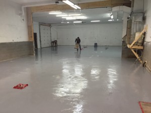 self leveling concrete during